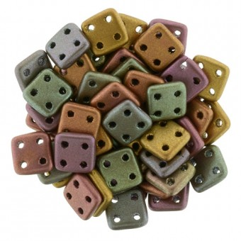 Margele Cehia QuadraTile 6x6mm mix metalic - 10buc