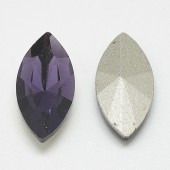 Cabochon sticla oval tuguiat 15x7mm mov (1buc)